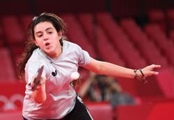 Olympics-Table Tennis-Syrian 12-year-old, Tokyo Games' youngest competitor, exits in first round