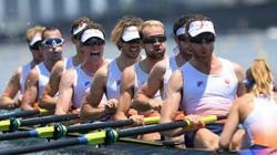 Olympics-Rowing-Britain dealt setback in men's eight, Netherlands advances