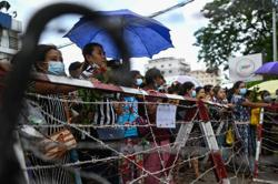 Protest breaks out at prison in Myanmar's biggest city