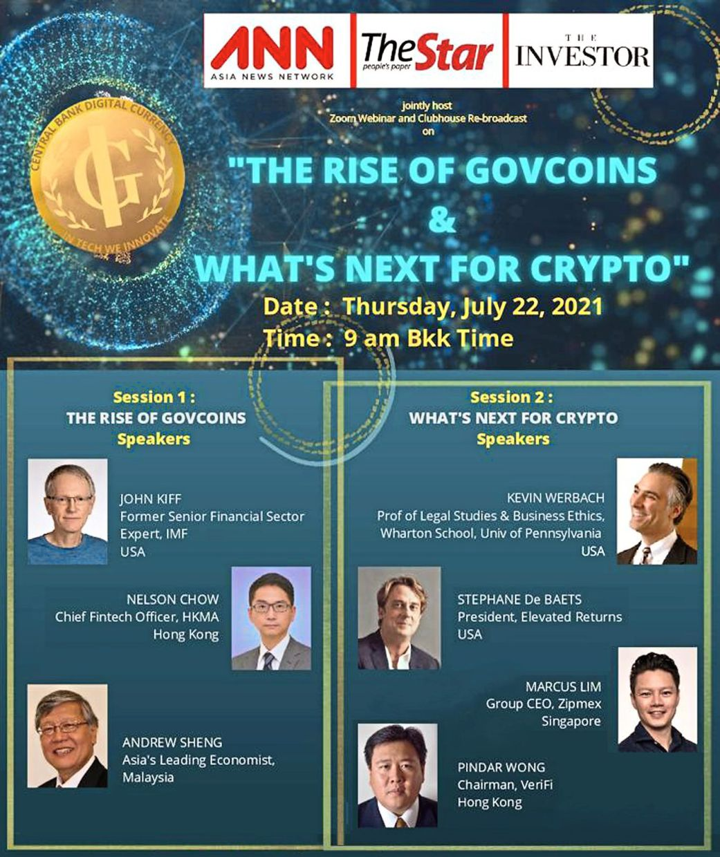 Speakers at the webinar co-hosted by The Investor, a tech media outlet run by The Korea Herald, Malaysia's The Star and the Asia News Network.
