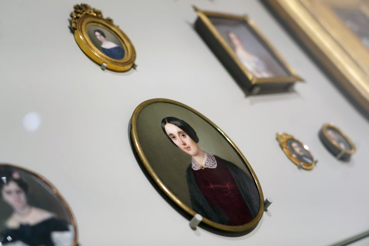 Miniature portrait of the Duchess of Bivona Maria del Carmen Lucia de Acuna and Dewite, painted by Sophie Lienard is seen at El Prado Museum in Madrid. Photo: Reuters