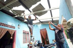 Storm destroys homes and disrupts lives
