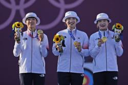 Olympics - Magnificent South Korean women archers win country's second gold at Tokyo 2020