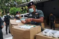 Thai army seizes masks illegally imported into Myanmar
