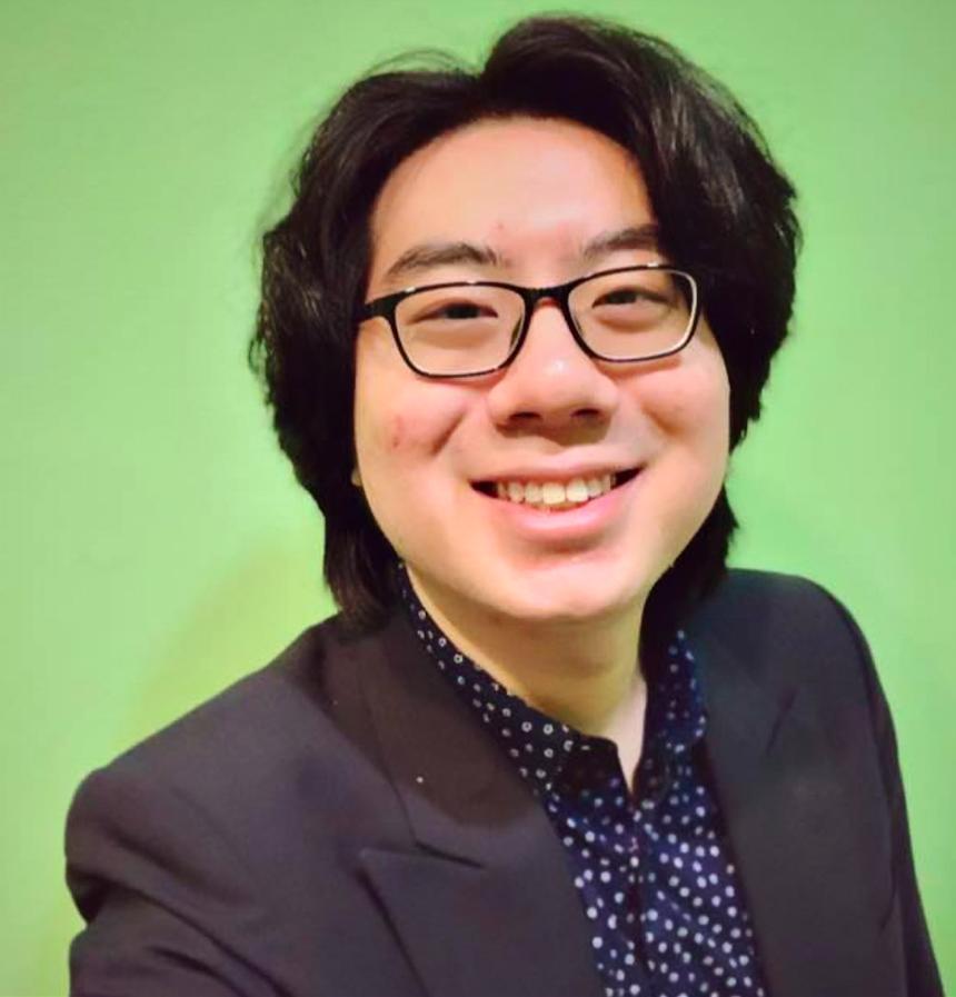 Psychology undergraduate Goh Ian Shen edits and compiles the TimeToTalk sessions. Photo: TimeToTalk
