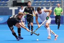Hockey-Belgium beat Germany 3-1 for their 2nd win in men's tournament