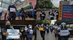 Contract medical officers walk out nationwide in support of Hartal, call for immediate reform