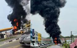 Quick action by petrol station staff prevents explosion in Sibu