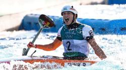 Olympics-Canoeing-Germany's Funk wins women's Kayak slalom gold