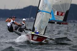 Olympics-Sailing-Britons claim two victories in opening skiff races