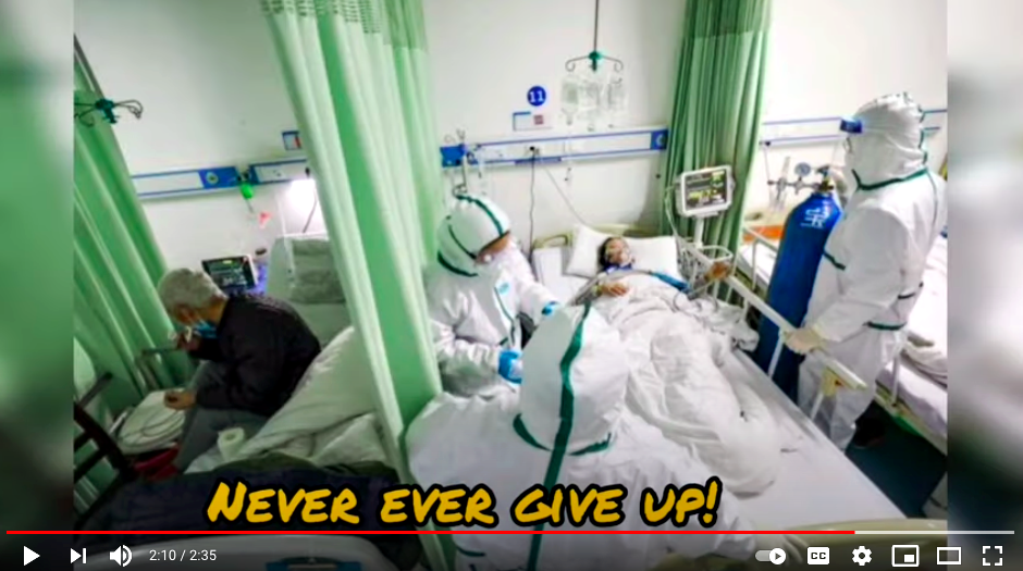 The boys wanted to encourage the frontliners to 'never give up' no matter how difficult it gets. Photo: YouTube/thundershock