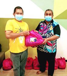 Essentials distributed to Tanjung Malim folk