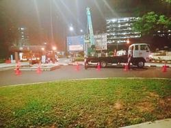 Late-night road work keeping KL condo occupants up