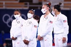 Olympics-Gymnastics-Biles praises 'brave' team mates for stepping up