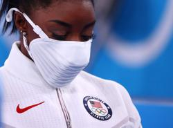 Olympics-Biles out of next event at Tokyo Games