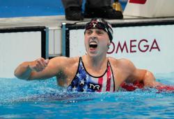 Olympics-Swimming-American Ledecky wins women's 1500m freestyle gold