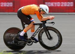 Olympics-Cycling-No need to be a freak to win gold, says victorious Van Vleuten