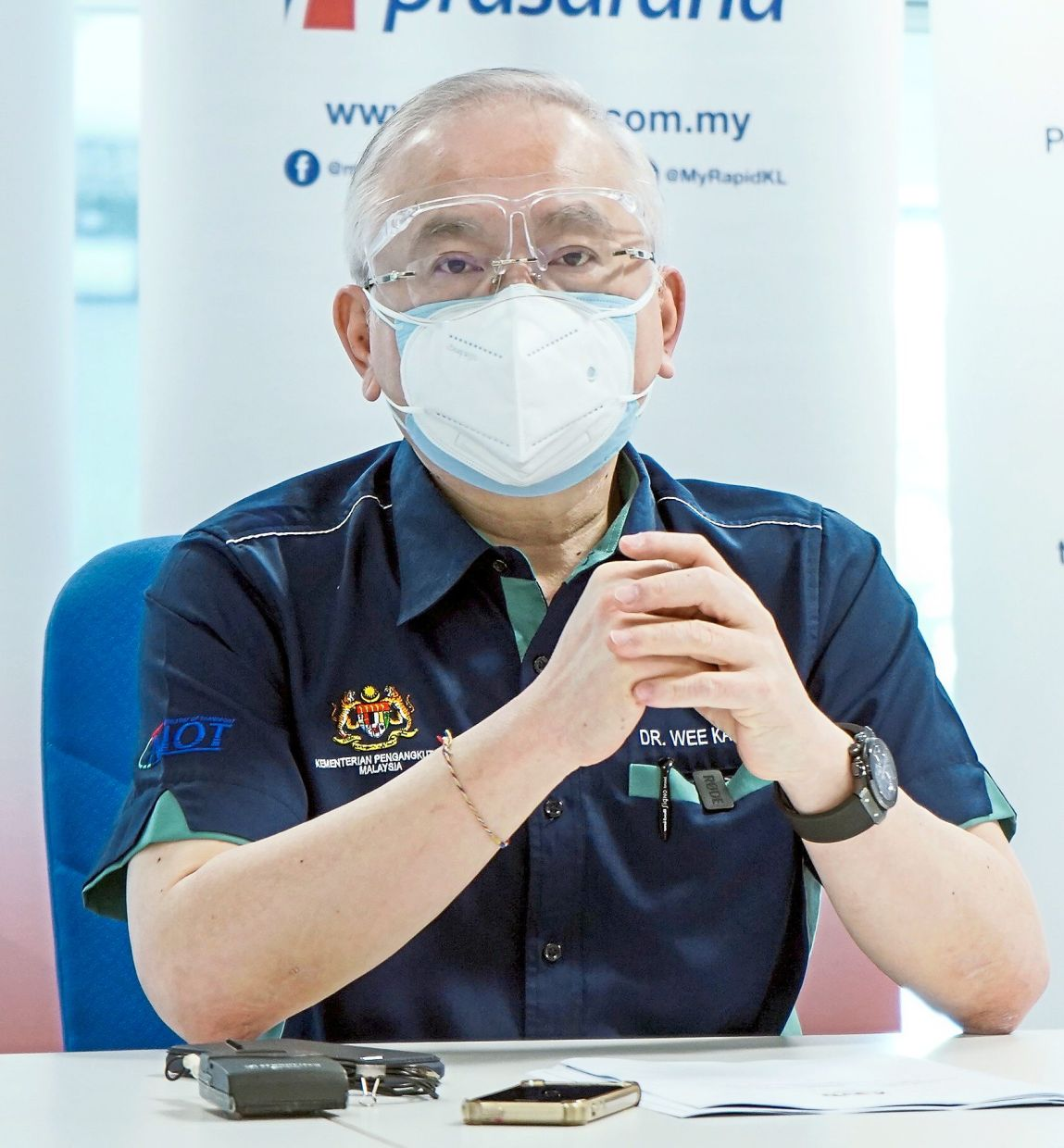 Seeking answers: Dr Wee says a detailed investigation is being carried out and it was too early to ascertain the actual cause of the incident.