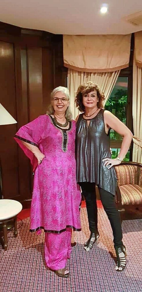 Meeta (right) and Preet have been good friends for nearly 40 years. Photos: Meeta Bhar
