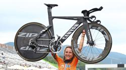 No need to be a freak to win gold, says victorious Van Vleuten