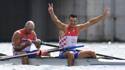 Olympics-Rowing-Croatia win gold in men's pair