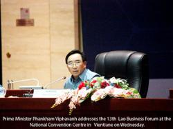 Lao PM calls for stronger support for business
