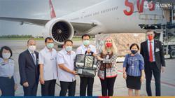 Switzerland flies in 26 tonnes of medical supplies to Bangkok