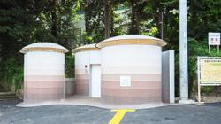 In Tokyo, head for this mushroom-like public washroom when nature calls