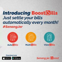 Paying household bills automatically via Boost