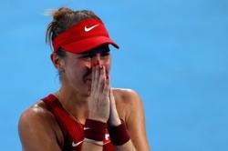 Olympics-Tennis-Bencic, Vondrousova to vie for gold as Djokovic eases into semis