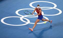 Olympics-Tennis-'No rain, no flowers': Vondrousova savours victory over despondent Svitolina