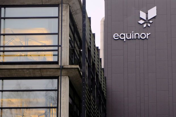 Equinor's logo is seen at the company's headquarters in Stavanger, Norway. - File pic