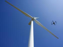 How drones help workers inspect wind turbines