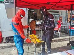 Fancy having Spider-Man deliver satay to your doorstep?
