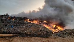 Fire razes 3.72ha of Pulau Burung landfill in Penang