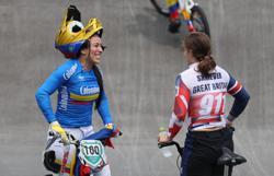 Olympics-Cycling-Pajon de-throned as BMX queen, Fields suffers bad crash