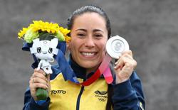 Olympics-Cycling-BMX Queen Pajon cedes gold, looks to track cycling for Paris