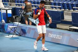 Olympics-Tennis-Djokovic inconsolable after Golden Slam dream ends