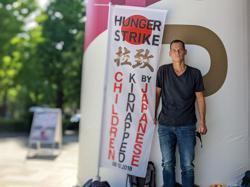 Olympics-EU envoys back Frenchman on hunger strike over Japan child custody