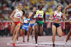 Olympics-Athletics-Poland top 4x400 mixed relay heats as U.S. disqualified