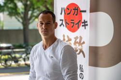 Frenchman in Tokyo ends hunger strike over his 'abducted' children