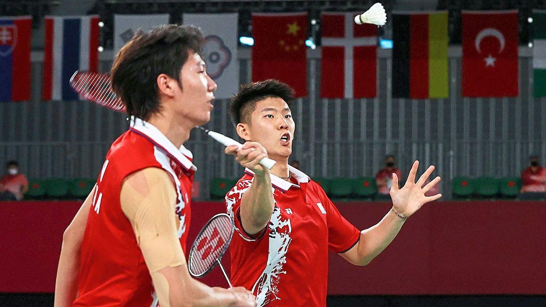 Strong pair: Liu Yuchen-Li Junhui of China will play Taiwan's Lee Yang-Wang Chi-lin in the final today. — Reuters