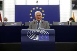 EU says sanctions an option to tackle Belarus people smugglers