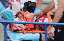 Olympics-Cycling-Fields suffered brain bleed in crash, out of ICU, says mother