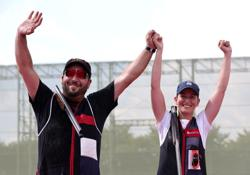 Olympics-Shooting-Spain win trap mixed team gold in Tokyo