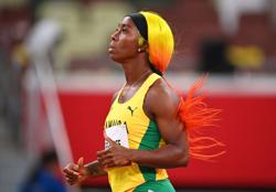 Olympics-Athletics-Jamaica's Fraser-Pryce fastest in women's 100m semis