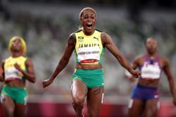 Olympics-Athletics-Brilliant Thompson-Herah leads Jamaican sweep in 100m
