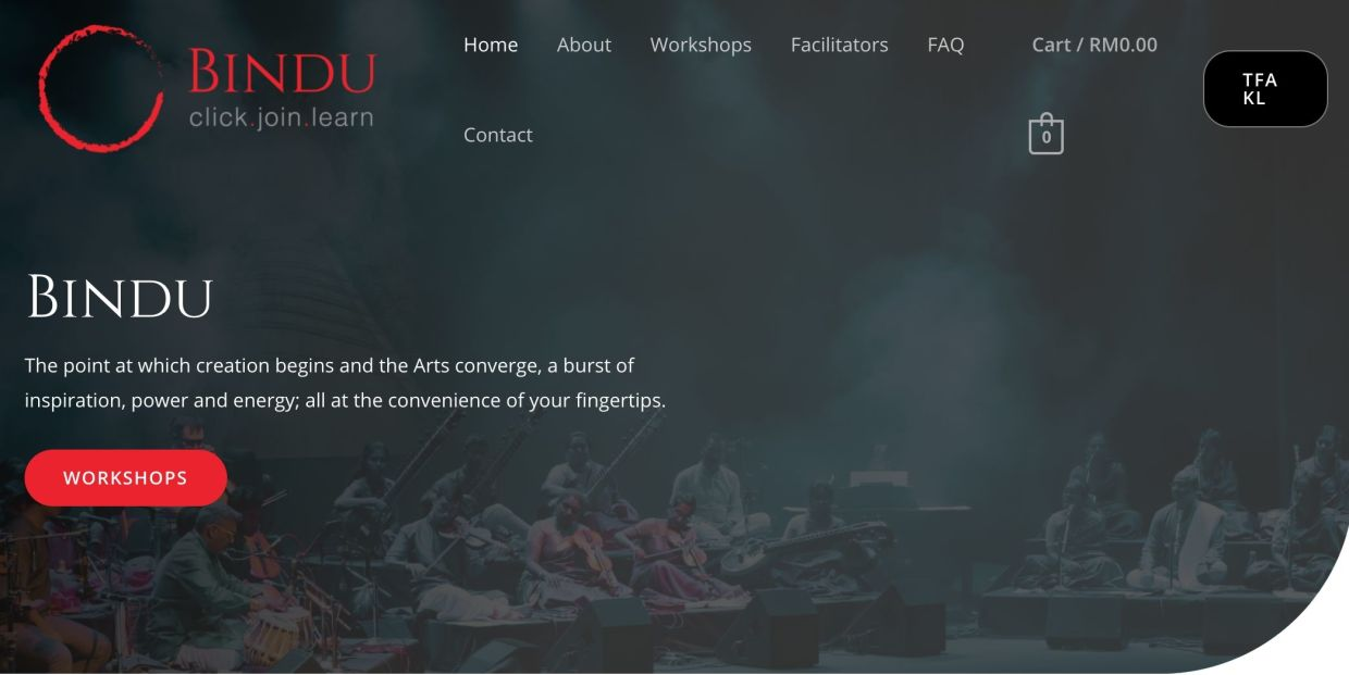 Bindu is a new virtual platform from the Temple of Fine Arts. Photo: Handout