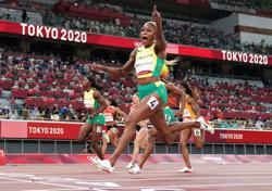 Olympics-Athletics-Thompson-Herah's run was