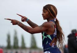 Olympics-Athletics-U.S. sprinter Richardson applauds Jamaica's 100m clean sweep